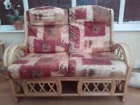 Wicker job lot - armchair, side table, sofa ect..