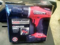 18V Cordless Drill in Box Like New.