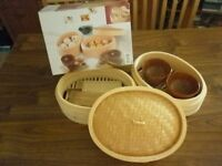 Asia Bamboo Steamer Set (with accessories) New
