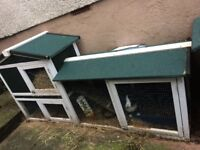 Large outdoor rabbit hutches x2