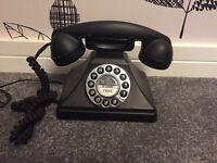 Black vintage phone from NEXT