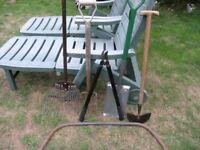 6 Garden Hand Tools Inc New Spade, Fork, Grass Rake, Bow Saw Weymouth