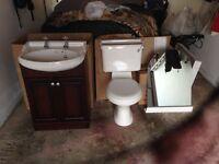 Bathroom Vanity & Toilet