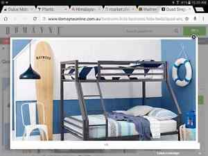 DOMAYNE FURNITURE QUAD DOUBLE SINGLE BUNK BED Engadine Sutherland Area Preview