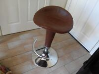 bar stools brown leather look only £25 for both