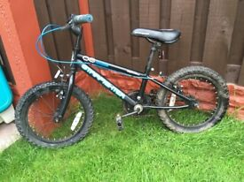 """Boys 16"""" bike black £35 can deliver for a small charge"""