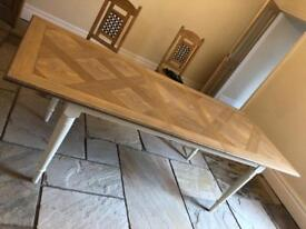 M & S wooden table with extendable legs
