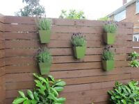 contempary wall and fence plantersto hang to walls and fences ideal for smallplants and herbs
