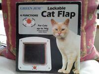 New green Jem lockable cat flap