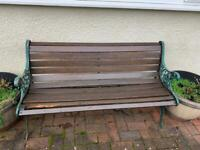 *reserved* Wooden bench with iron sides