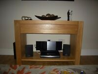 Oak side Table / TV unit