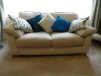 One/Two Cream 'Marlow' 2-Seater Sofas, Good, Clean Condition - will sell separately!