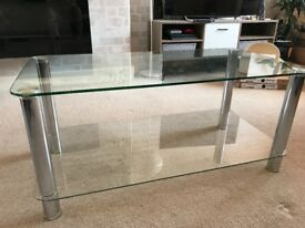 50 x 100 glass coffee table