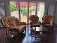 Conservatory sofa, chairs and coffee table