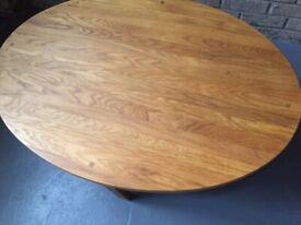 Laura Ashley two tier oak oval coffee table