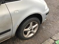 4 alloy wheels with very good tyres They fit Vw, Audi, skoda