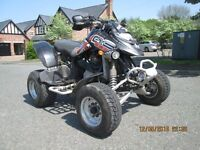 Bombardier ds650x road legal quad bike yamaha raptor killers
