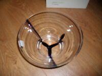 Dartington Glass handmade, bowl boxed & new