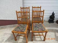 4 patterned high back chairs