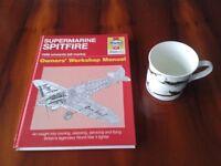 Haynes Spitfire Book and Leonardo Collection World War Classic Planes Mug