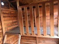 Kids wooden 8x6 playhouse