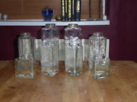 Antique Glass Storage Jars