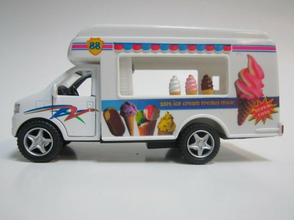 Kinsmart Softy Ice Cream Truck diecast model with pull back