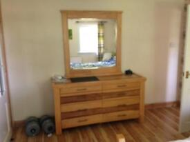 OFFERS, NEED AWAY, Oak Bed, Mirror, Bedside Tables And Units