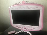 £35 Ono PINK DISNEY PRINCESS GIRLS REMORE INCLUDED WALL MOUNT STAND TV TELE TELEVISION