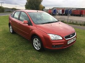 07 REG FORD FOCUS 1.6 GHIA 5DR-12 MONTHS MOT-GREAT LOOKING CAR IN A FANTASTIC COLOUR-DRIVES GREAT