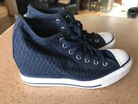 Converse All Star wedge trainers.