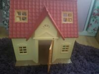 sylvanian house with figures antrim
