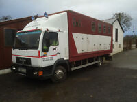 Horse lorry for sale.