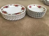Bowl and plates -myott