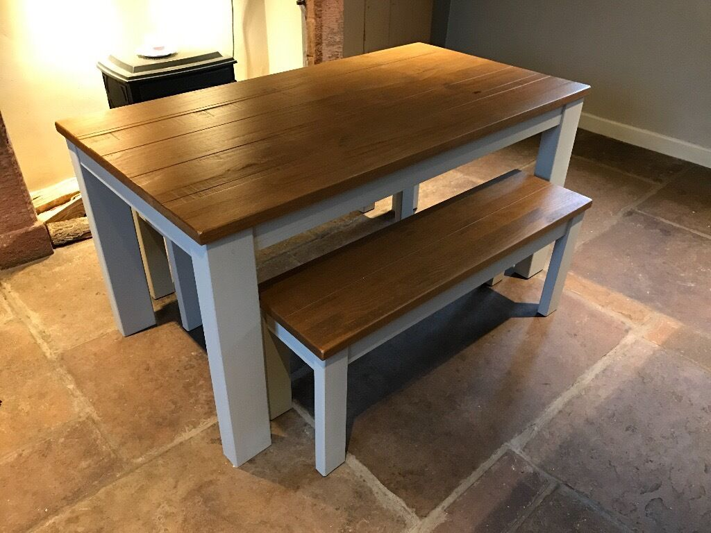 Dining table bench set next hartford painted bench set in carlisle cumbria gumtree Breakfast table with bench