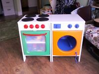 Child's play cooker and washing machine vgc only £35