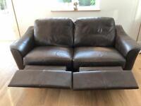John Lewis Leather recliner sofa