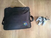 Nintendo 64 + Official Carry Case + Games + 2 Working controllers + Poster