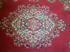 Large floral design rug
