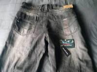 Men's motorcycle jeans kelvar lined