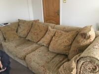 Large 3-4 seater sofa, 2 seater sofa and arm chair. Excellent condition buyer must collect