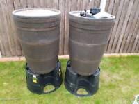 Oak Barrel Type Look Water Butt