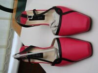 Jacques Vert, Pink Sling Back, Size 39 (5.5/6) Excellent condition