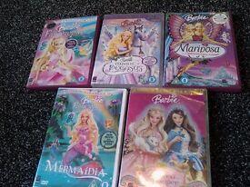 barbie dvd bundle x5