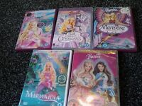 barbie dvd bundle x5