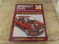 renault clio haynes service and repair manual
