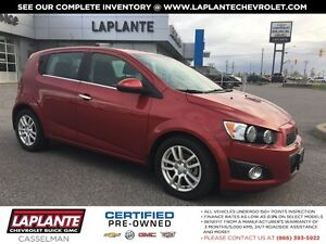 2013 Chevrolet Sonic One Owner + Sunroof + Heated Seats