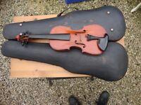 Antique,Half Size Violin,By John G Murdock. Circa Late !9th Century.