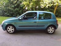 2002 Renault Clio 1.2 Manual 3 Doors Low Mills With 12 Month MOT PX Welcome