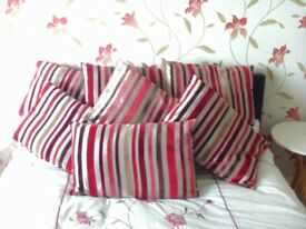 7 BEAUTIFUL CUSHIONS LIKE VELVET - IN GREAT CONDITION - £4 EACH